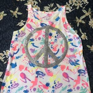 Girls Colorful Justice Tank Top